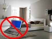 Nhà đẹp - Phong thủy phòng ngủ: Kiêng đặt TV, máy tính gần cửa