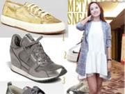 Thời trang - Giày thể thao ánh kim hâm nóng mùa đông