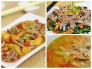 Bếp Eva - Thực đơn hấp dẫn cùng dạ dày xào dứa, canh trai nấu khế