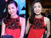 Thời trang Sao - Tăng Thanh Hà mặc váy suông che bụng bầu hút sự tò mò
