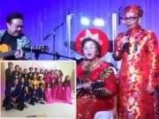 Hậu trường - Bố mẹ Hoài Linh hát cùng con cháu trong đám cưới vàng