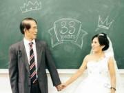 Chuyện tình yêu - Vợ chồng 70 tuổi chụp ảnh cưới trong trường học