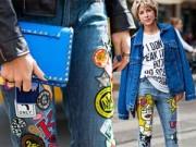 """Thời trang - """"Đổi gió"""" với mốt quần jeans đắp vá"""