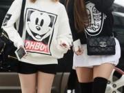 Thời trang - Sao Hàn cổ xúy mốt giấu quần trong tiết trời lạnh buốt