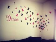 Nhà đẹp - Nửa tiếng bày phòng ngủ như mơ với bướm 3D nghệ thuật