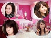 Nhà sao - Tham quan phòng ngủ hồng lãng mạn 4 hot girl xinh xắn