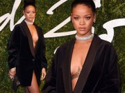 Thời trang - Rihanna gây tò mò vì mặc áo khoác thay váy