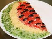 Bếp Eva - Salad thịt gà hình dưa hấu vừa đẹp lại ngon