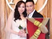 Làng sao - Vợ Tô Vĩnh Khang đeo vàng nặng trĩu trong đám cưới