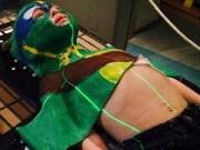 Tin tức - Cậu bé bị ung thư mạnh mẽ trong trang phục Ninja Rùa
