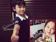 Làng sao - Con trai Kim Hiền đẹp như mẫu nhí xứ Hàn