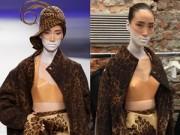 Trên sàn Catwalk - Trang Khiếu sải bước trên sàn diễn thời trang Milan