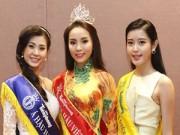 Làng sao - Hoa hậu Kỳ Duyên rạng rỡ cùng 2 Á hậu