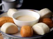 Bếp Eva - Bánh bao chay chiên, giòn giòn chấm sữa