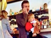 Làng sao - Bắt gặp Harper đi ăn với bố David Beckham