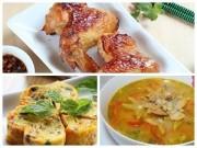 Bếp Eva - Cơm ngon với cánh gà nướng, trứng ngũ sắc