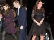 """Làng sao - Công nương Kate bầu bí vẫn """"ham"""" giầy cao gót"""