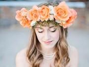 Làm đẹp - Hoa tươi: Phụ kiện tóc cho cô dâu đơn giản mà đẹp