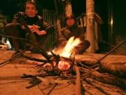 Tin tức - Người Hà Nội co ro đốt lửa trong giá lạnh đêm đông