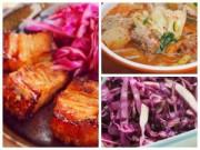 Bếp Eva - Thịt heo quay áp chảo, canh kim chi hấp dẫn bữa chiều