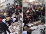 Tin tức - TQ: Sập tường trường học, 5 nữ sinh thiệt mạng