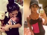 Bà bầu - Mẹ 1m45 tự tin mặc quần bó sau sinh 12 ngày