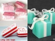 Nhà đẹp - Tự làm xà phòng kẹo gậy cho Giáng Sinh ngọt ngào