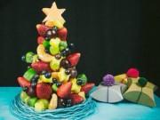 Bếp Eva - Bé thích mê cây thông Noel từ hoa quả
