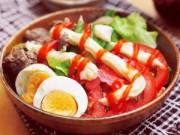 Bếp Eva - Salad trộn thịt bò xào ngon thế này ai cũng thèm