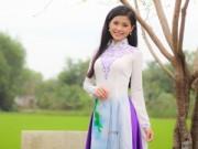 Người mẫu - Á hậu Diễm Trang diện áo dài nền nã về thăm quê