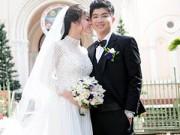 Làng sao - Nhật Kim Anh tinh khôi trong lễ cưới ở nhà thờ