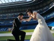 Tình yêu - Giới tính - Ảnh cưới của cặp đôi Việt tại sân bóng Bernabeu