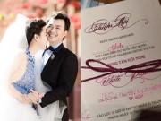 Làng sao - Thiệp cưới giản dị của Lê Khánh và bạn trai 10 năm
