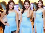Thời trang Sao - HH Hương Giang mặc váy xẻ khoe chân dài bất tận