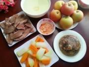 Món ngon - Bữa cơm chiều hấp dẫn với thịt đông