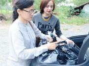 Làng sao - Angela Phương Trinh lái xe mới tậu đi từ thiện