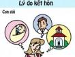 Cười ngất: khác biệt giữa con trai và con gái trong hôn nhân