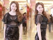 Làng sao - Quỳnh Thư diện váy xuyên thấu sau khi giảm 8kg