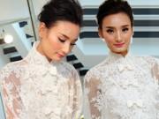 Thời trang - Cận cảnh váy cưới đẹp khó cưỡng của Lê Thúy