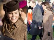 Làng sao - Bà bầu Công nương Kate đón Giáng Sinh bên chồng