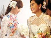 Thời trang - Soi áo dài cưới tinh xảo tuyệt đẹp của sao Việt