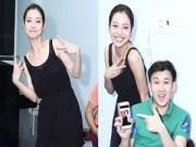 Làng sao - Jennifer Phạm đi chân trần tập nhảy với Dương Triệu Vũ