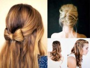 Làm đẹp - 9 kiểu tóc dự tiệc cưới dễ thương cho bạn gái