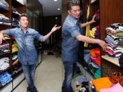 Thời trang - Mr Đàm lại khoe tủ quần áo ngập tràn hàng hiệu
