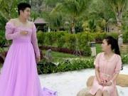 Làng sao - Chồng Nhật Kim Anh mặc váy cầu hôn vợ