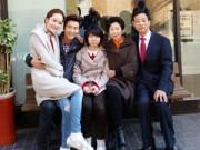 Làng sao - Chae Rim tình tứ Cao Tử Kỳ trước mặt bố mẹ chồng
