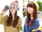 Làm đẹp - Những kiểu tóc xinh yêu phối cùng mũ len đi chơi tết