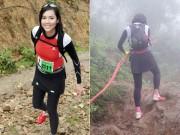 Á hậu Hoàng My chạy 21km qua hai quả núi