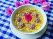 Bếp Eva - Chè đậu xanh khoai lang tím thanh mát, thơm bùi