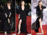 """""""Hoàng hậu Ki"""" Ha Ji Won táo bạo với váy xẻ tại LHP Busan"""
